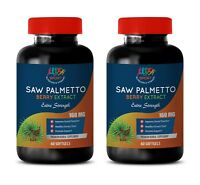 Saw Palmetto Berry Extract 160ml Supplement Supports Prostate Health (2 Bottles)
