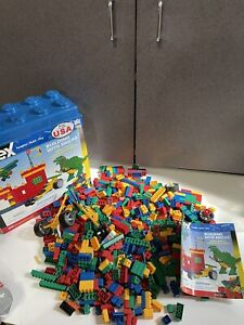 RARE BOXED HUGE LOT Of KNEX K'nex Blocks Bricks Some lego 61009 71333
