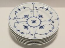 "6 Pc. Royal Copenhagen Blue Fluted Plain 8 1/2"" Luncheon Plates"