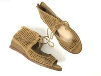 Vince Camuto Suede Wedge Sandals Lace Open Toe Size 7 37