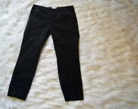 Anthropologie The Essential Slim Women's Black Pants Size 2P Crop Trousers