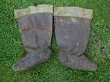Early Antique Native American Indian Eskimo Boots, Hand Made Moccasins