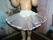 """Pink Sparkle Petticoat  22-23"""" Doll clothes fits Ideal Saucy Walker or Pedigree"""