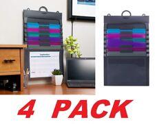 SMEAD 92063 Cascading Hanging Folders Work Office Wall Organizer 6 Pockets -4PCK