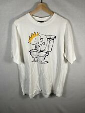 Vintage Calvin And Hobbes Shirt Spring Ford Single Stitch Sz XL Rare White Used