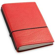 X17 Leather Notebook A6 Plain, Squared and Lined, Red, 3 Inlays (1-906-3R)