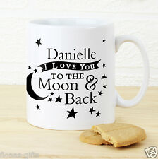 Personalised I LOVE YOU TO THE MOON AND BACK Mug - Valentine's Day Gift