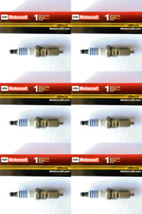 New SET OF 6 Motorcraft Platinum Spark Plugs SP433