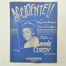 Partition ANNIE CORDY Accidentel BRAVARD CANFORA 6 pages