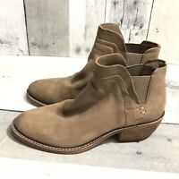 Dolce Vita Size 6 Women's Zabi Tan Leather Pull-on Ankle Boots