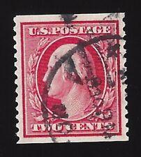 US #353 1909 Carmine Wmk 191 Perf 12 Vert Used VF Scv $220