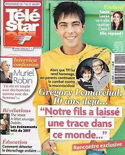 TELE STAR N°2101 07/01/2017 GREGORY LEMARCHAL/ MURIEL ROBIN/ LUCIE LUCAS/ MORGAN