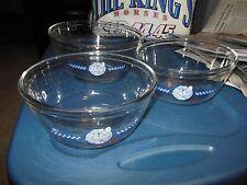 3 pc Pillsbury Poppin Fresh Mixing Bowl Set Anchor Hocking Ovenware