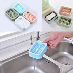 Home Water Draining Soap Dish Case Holder Drainer Soap Saver Stander Storage Box