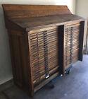 Rare Antique Hamilton Typeset / Printers 48 Tray Storage Cabinet