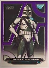 2018 Topps Star Wars Galactic Files Purple Parallel Commander Gree ACW-23 34/99