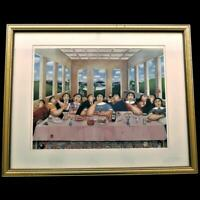 "Art Print ""THE LAST SUPPER"" by Yu Cha Pak 1993,Framed & Matted, 30"" x 33"""