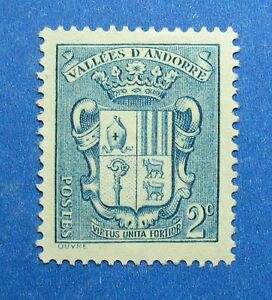 1936 ANDORRA FRENCH 2c SCOTT# 66 MICHEL # 50 UNUSED                      CS26588