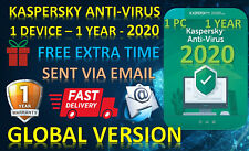 KASPERSKY ANTI-VIRUS SECURITY  2020 / 1 DEVICE / 1 YEAR /GLOBAL+FREE EXTRA TIME