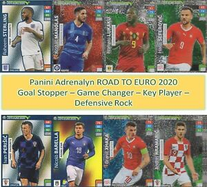 Panini Adrenalyn XL Road UEFA Euro 2020 POWER UP GOAL STOPPER KEY PLAYER cards
