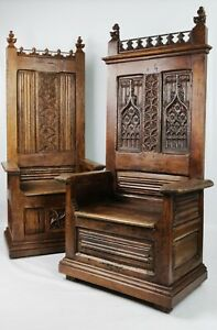 Two 16th Century Throne Chairs.