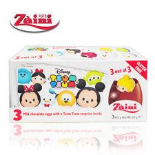 [ZAINI] DISNEY TSUMTSUM Milk Chocolate Egg Collectible Toys Inside 3 Eggs NEW