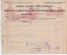1890s Western Billhead Omaha Saddle Tree Co Rawhide Covered Stirrups Etc