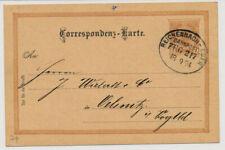 Österreich 1894 2kr Karte BAHNSTEMPEL REICHENBERG-EGER/BAHNPOST/ZUG 217