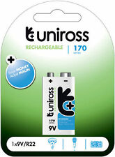 Uniross 9v 170 Series Performance Rechargable Batter For Everyday Use