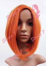 W95 Orange Mix Full Wig Medium Length Bob Natural Look Skin Top studio7-uk