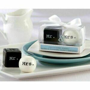 Novelty Mr & Mrs Ceramic Salt & Pepper Shakers Wedding Anniversary Gift Favour