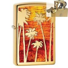 Zippo 29420 Palm Trees Sunset Fusion Lighter with PIPE INSERT PL
