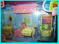 RARE 2003 Fisher Price Loving Family New Additions Dollhouse 9019 Bath WITH BABY
