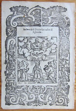 Post Incunable Leaf Rosario Woodcut Birth of Christ Venice - 1521