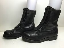 VTG MENS UNBRANDED WORK LEATHER BLACK BOOTS SIZE 6.5 EE