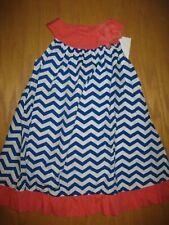 NWT Gymboree Chevron and Dots 5T Blue Chevron Dress