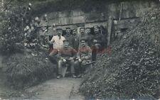 AK, Foto, Ardennen - Gruppenportrait vor Bunker, 1916; 5026-44