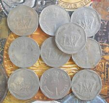 10 Coins LOT 1987  SMALL FARMERS -  Rupee 1 -  Commemorative india