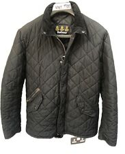 Mens Barbour Chelsea Sportsquilt Quilted Jacket Black Casual Coat Sz S