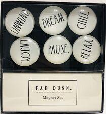 Rae Dunn Refrigerator Magnet Set 6 Unwind Dream Chill Enjoy Pause Relax