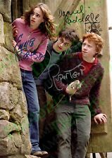 HARRY POTTER Ron hermione Reprint Signed Photo Poster | Print Wall Art | A4 Wand