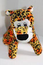 """Goffa Int'l LEOPARD CAT 10"""" Orange Yellow Black Spots Plush Stuffed Soft Toy"""