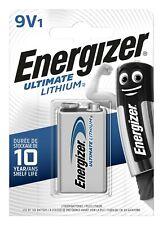 5 x Energizer Ultimate Lithium 9V Block E-Block 6FR22 Batterie - Rauchmelder