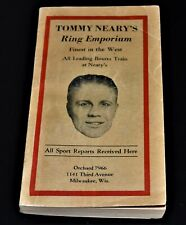 Tommy Neary's Ring Emporium Outstanding Shape 1929 Boxing Book