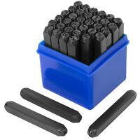 """6MM 1/4"""" Steel Punch Stamp Die Set Metal 36 Pc Numbers & Letters Storage Case"""