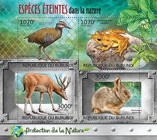 Extinct Species Nature protection m/s Burundi Sc.1116 MNH #BUR12413a