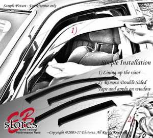 Tape-On Rain Guard Window Visor Dark Grey 4pcs 2002-2006 Chevrolet Avalanche
