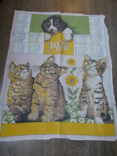 calendrier tissus chien et chats ,1972 (cp2)