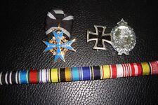 GERMAN VON RICHTOFEN SET: WWI PILOT SET-Blue Max/Ribbon bar/Badges