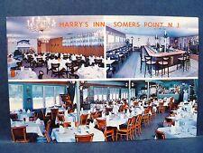 Postcard NJ Somers Point Harry's Inn Restaurant